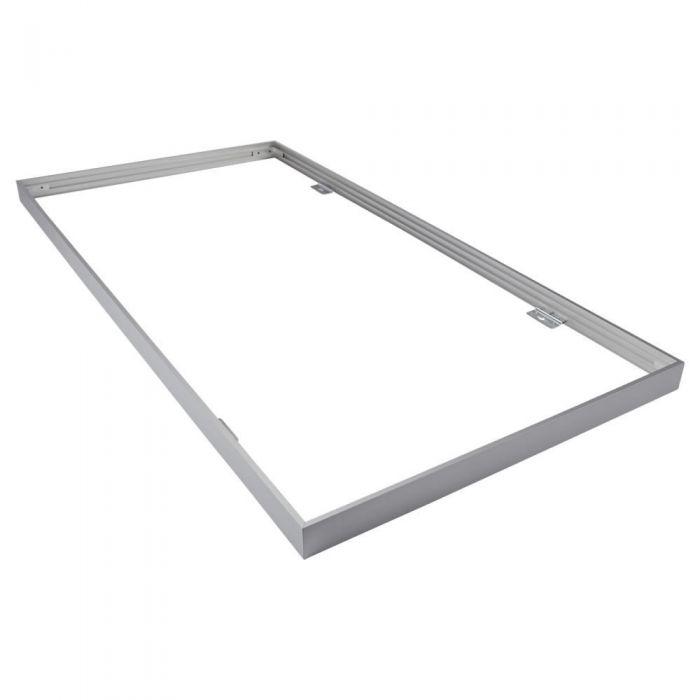 Biard Rahmen zur Oberflächenmontage, 60x120cm LED Paneellleuchte, Silber