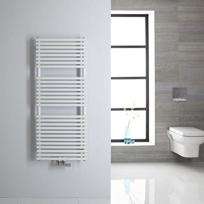 Handtuchheizkörper Mittelanschluss Vertikal Weiß 362 Watt 1200mm x 500mm - Magera