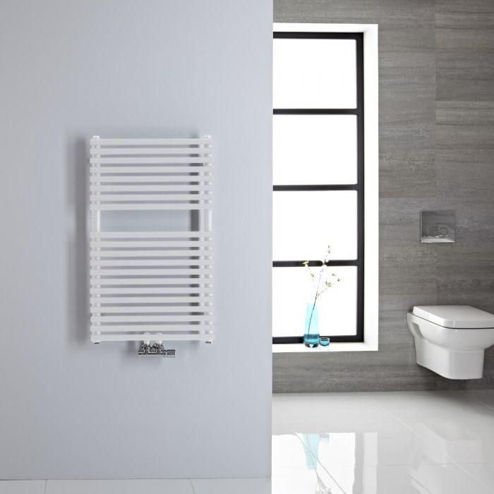 Handtuchheizkörper Mittelanschluss Vertikal Weiß 304 Watt 835mm x 500mm - Magera
