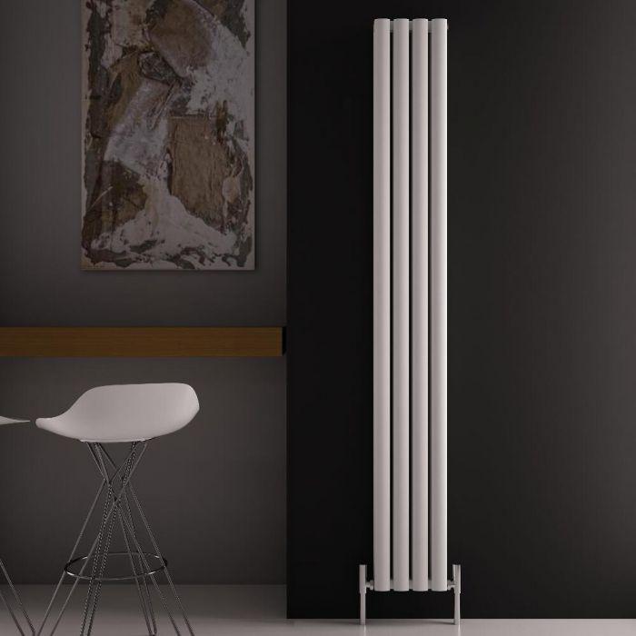 Design Heizkörper Aluminium Vertikal Weiß 1800mm x 230mm 1002W - Revive Air