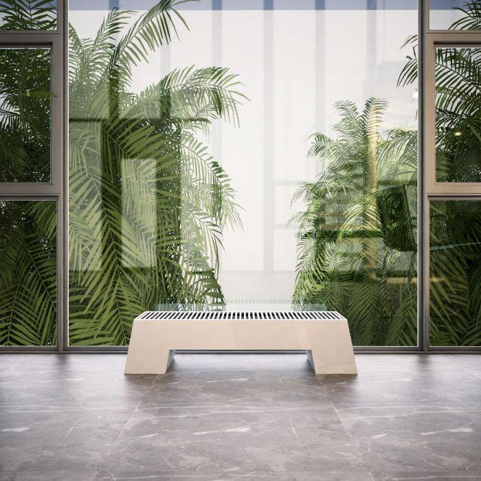 Design Konvektor Horizontal Weiß 200mm x 800mm 520W - Adva