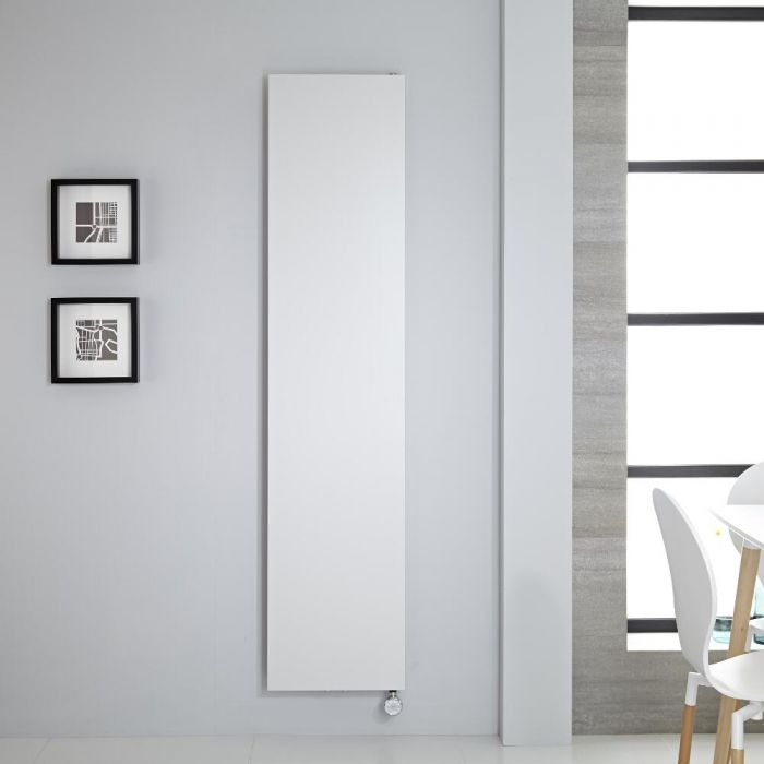 Design Flachheizkörper Elektrisch Vertikal Weiß 1800mm x 400mm - Rubi