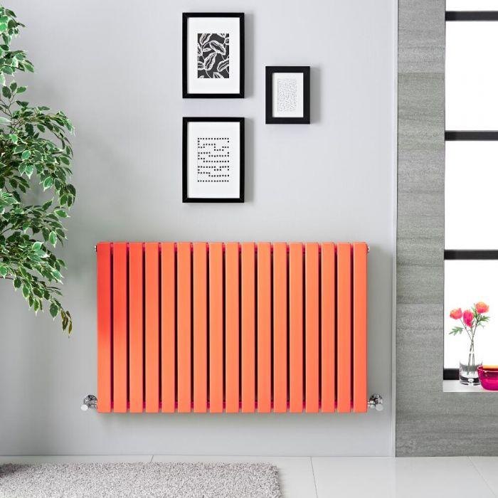 Design Heizkörper Horizontal Orange 1587 Watt 635mm x 1000mm Doppellagig - Sloane