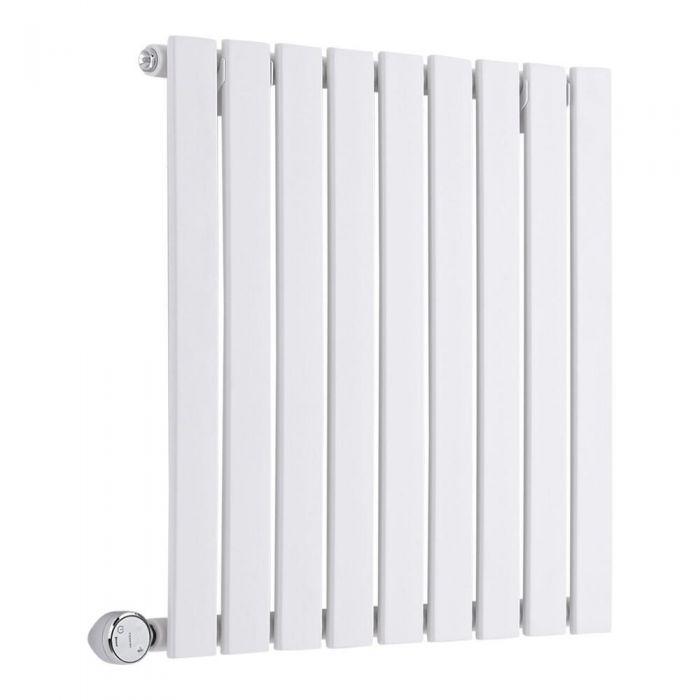 Design Heizkörper Elektrisch Horizontal Einlagig Weiß 635mm x 600mm inkl. ein 600W Heizelement - Sloane