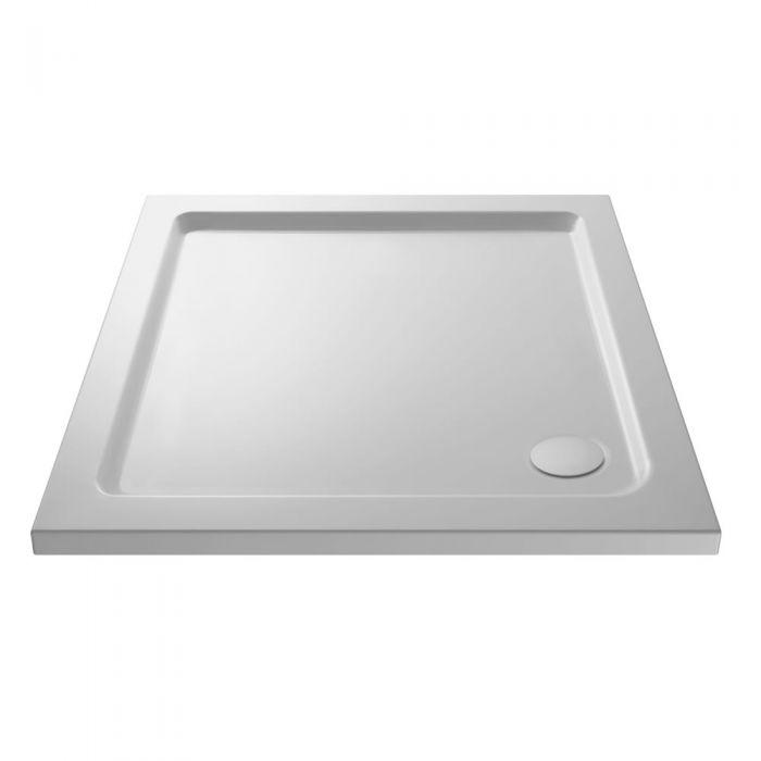 Duschtasse Quadratisch Steinharz 760mm x 760mm