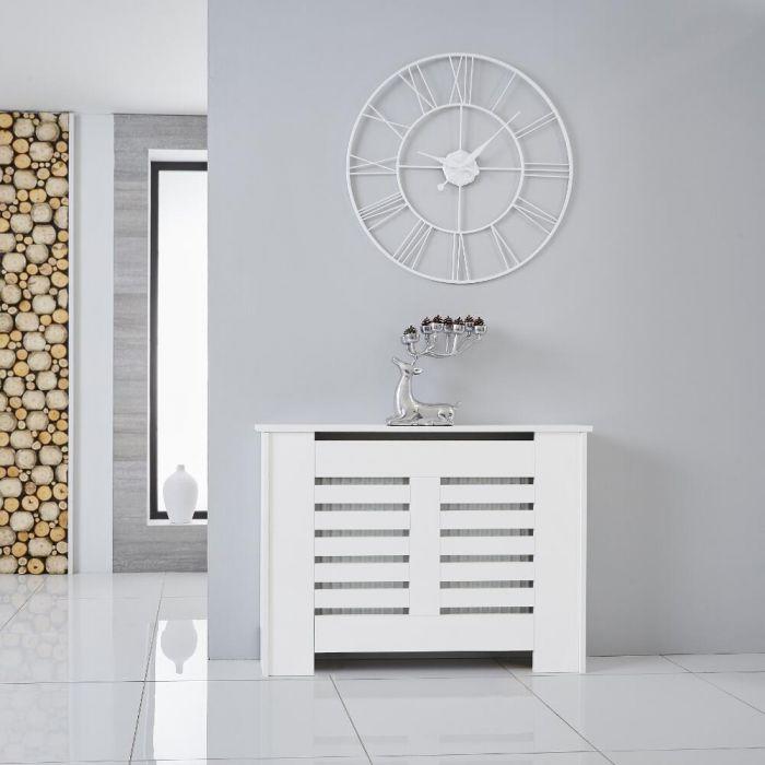 Heizkörperverkleidung Holz Horizontal Weiß 820mm x 1110mm - Newham