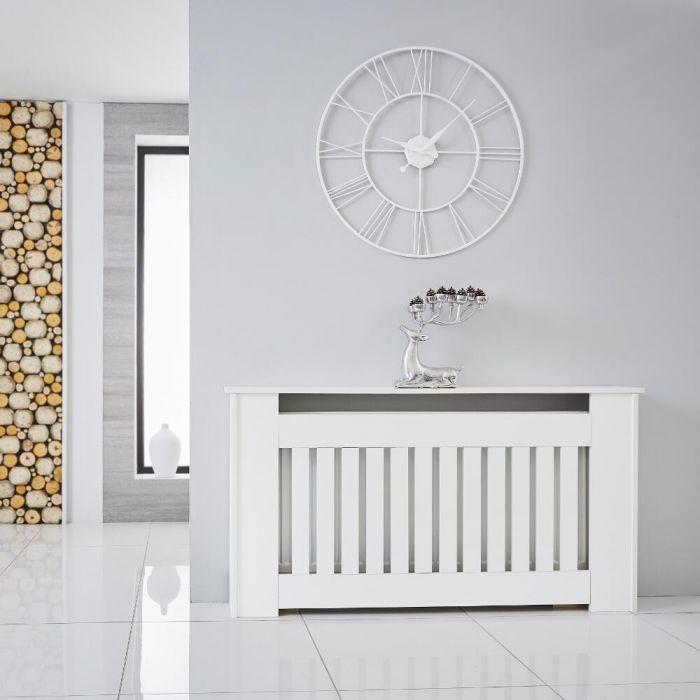 Heizkörperverkleidung Holz Horizontal Weiß 820mm x 1520mm - Sutton