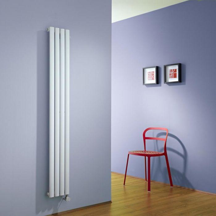 Design Heizkörper Elektrisch Vertikal Einlagig Weiß 1600mm x 236mm inkl. ein 600W Heizelement - Revive