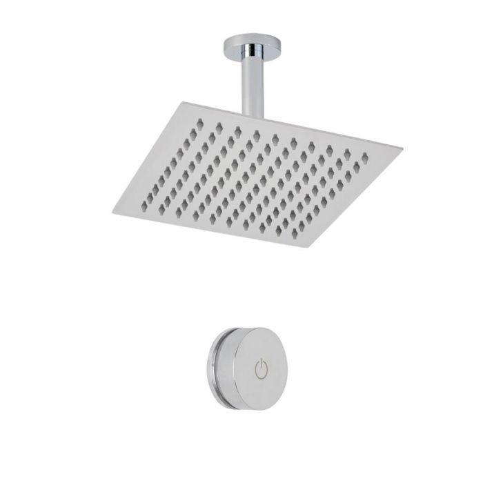 Digitale Dusche für eine Funktion, inkl. quadratischem Duschkopf zur Deckenmontage - Narus