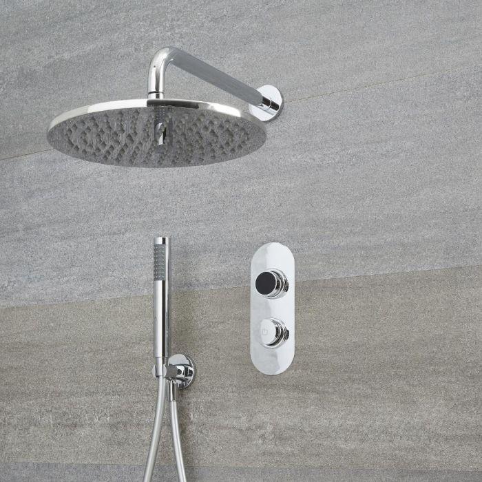 Digitale Dusche für zwei Funktionen, inkl. rundem Duschkopf zur Wandmontage - Narus