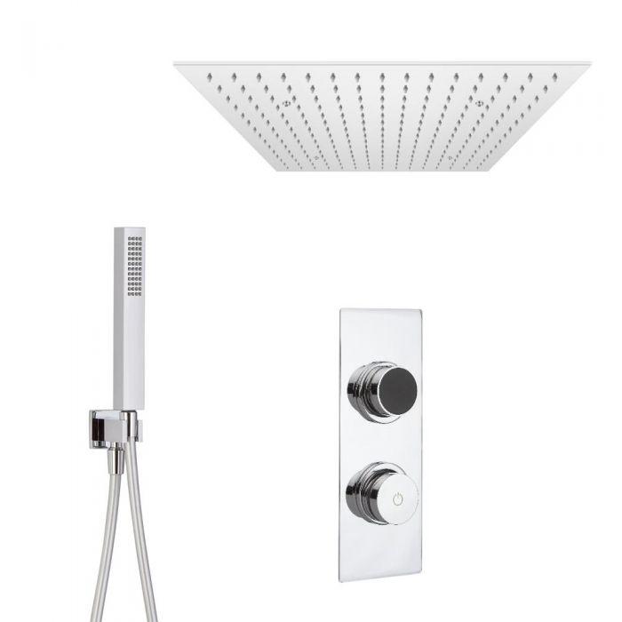 Digitale Dusche für zwei Funktionen, inkl. quadratischem Unterputzduschkopf