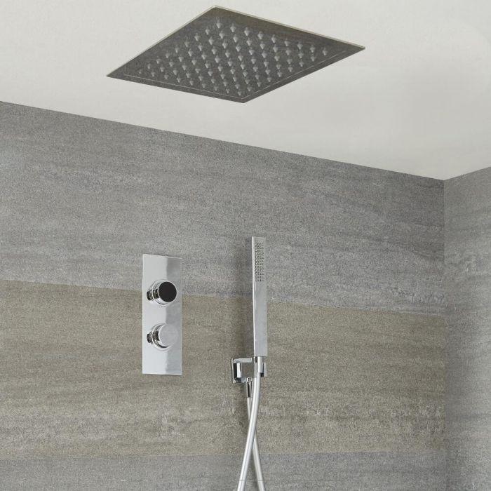 Digitale Dusche für zwei Funktionen, inkl. quadratischem Unterputzduschkopf - Narus