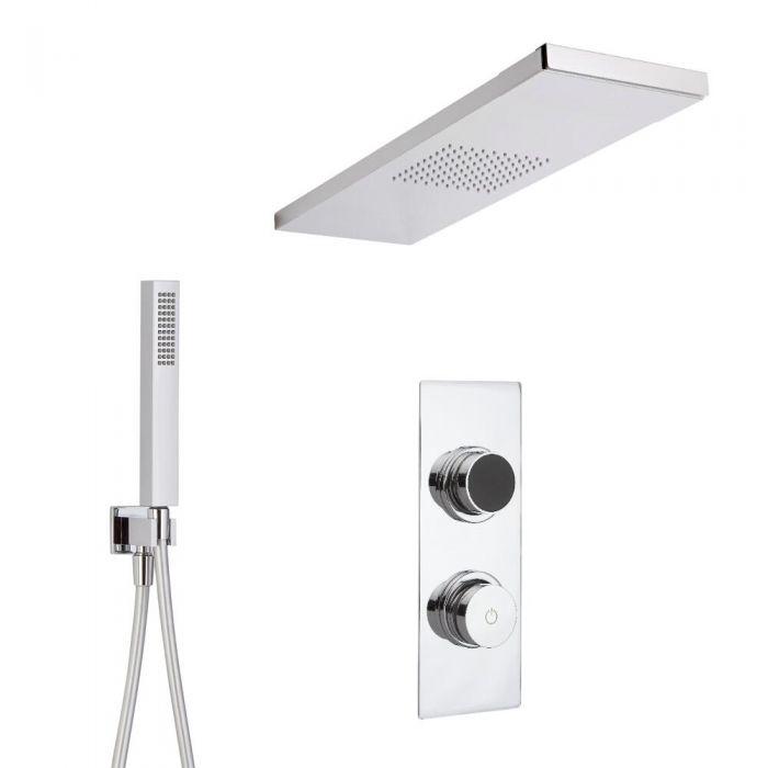Digitale Dusche für zwei Funktionen, inkl. Handbrause und Duschkopf mit integrierter