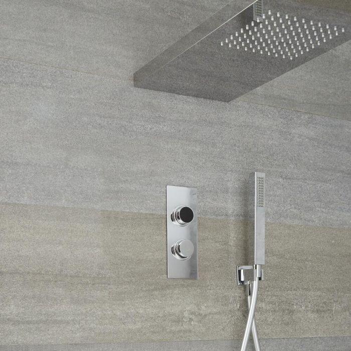 Digitale Dusche für drei Funktionen, inkl. Duschwand haltendem Duschkopf und Körperdüsen - Narus