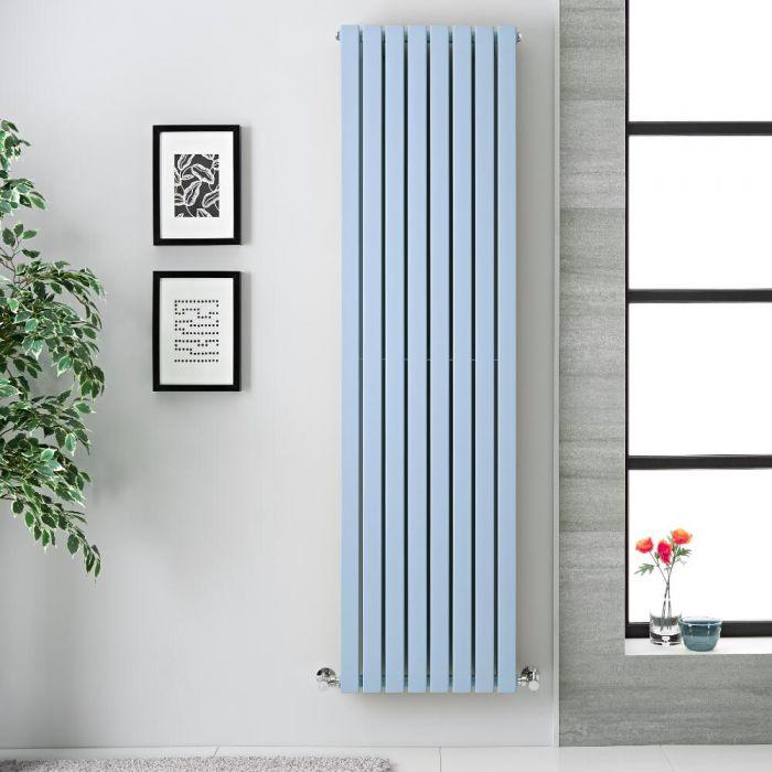 Design Heizkörper Vertikal Pastell Blau 1931Watt 1780mm x 472mm Doppellagig - Sloane