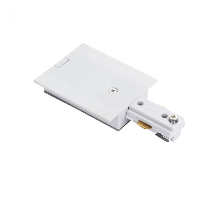 Biard Versenkter Stromanschluss für einphasige Stromschienen Weiß