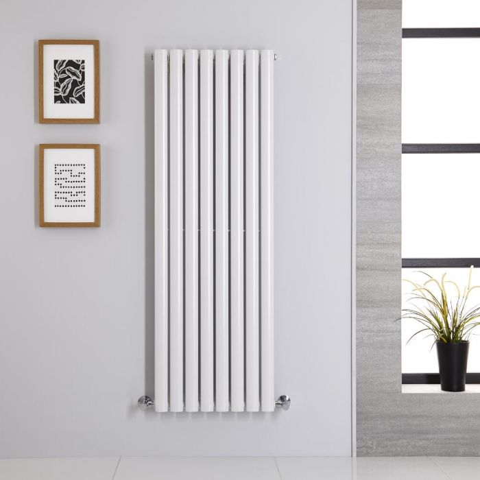 Design Heizkörper Vertikal Einlagig Weiß 1400mm x 472mm 915W - Revive