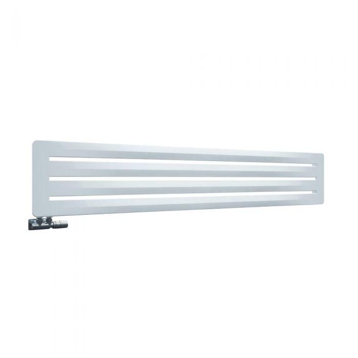 Design Heizkörper Horizontal Einlagig Weiß 325mm x 1800mm - Leba