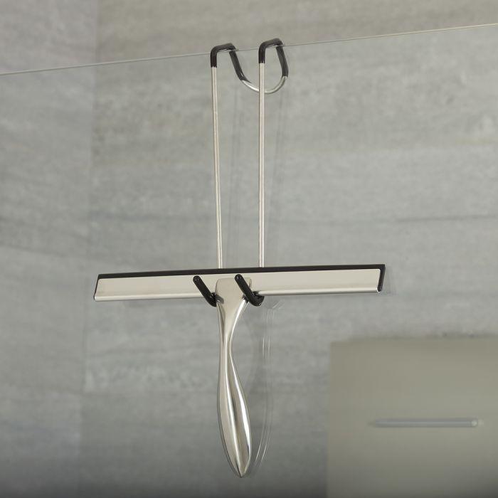 Duschwandwischer Chrom  mit Wandbefestigung