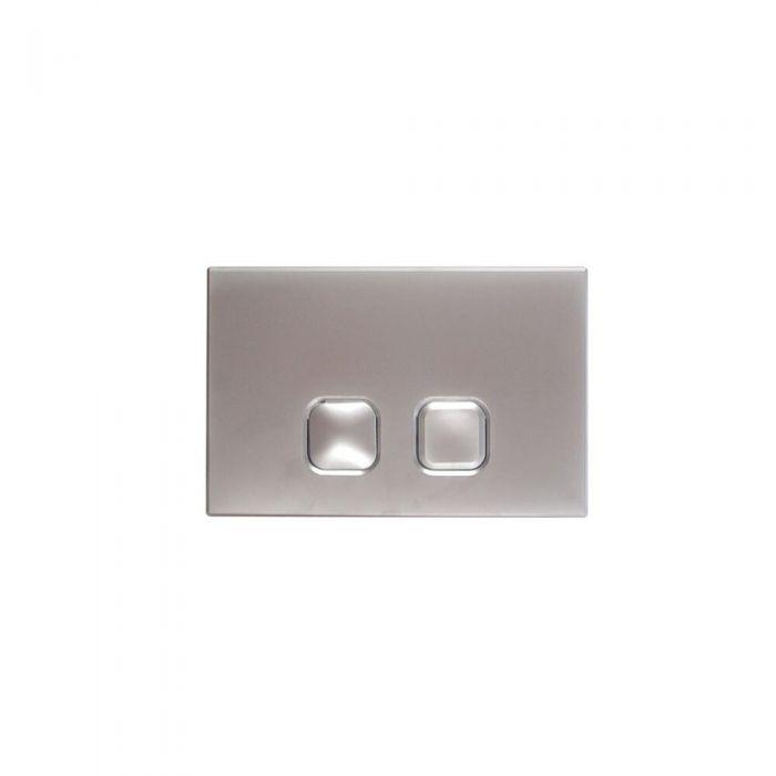 Betätigungsplatte Zweimengentechnik Quadratische Tasten Chrom 150mm x 230mm - Cluo