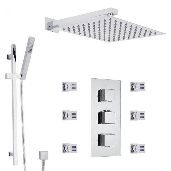 Duschsystem mit flachem Duschkopf - Pioneer