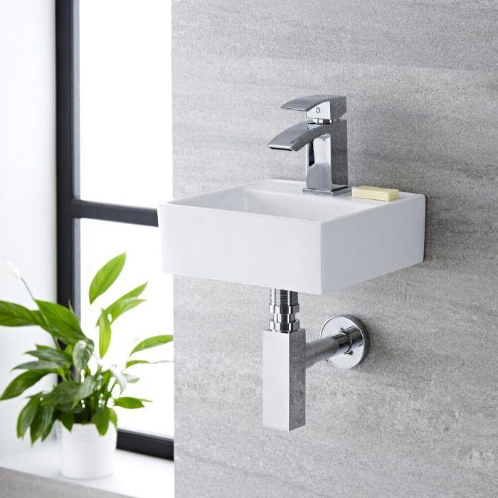 Kleines Hängewaschbecken Quadratisch 280mm x 280mm - Halwell