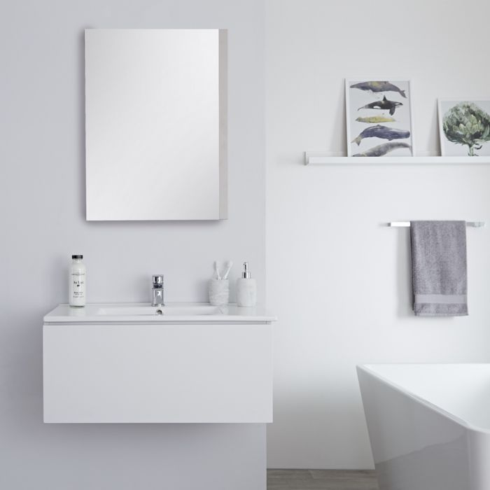 Hudson Reed Newington - Waschbecken mit Unterschrank 800mm - Mattweiß