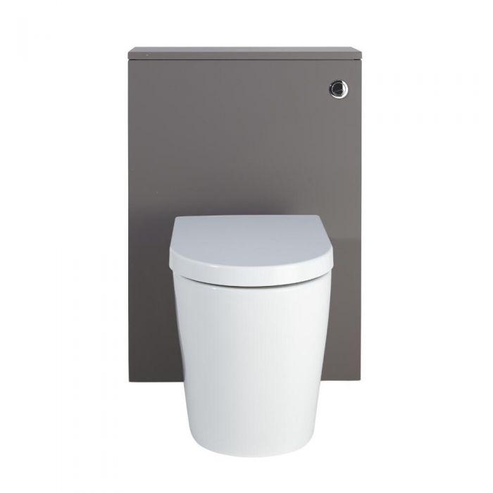 Newington - Moderne Standtoilette mit Vorwandelement 600mm & Spülkasten - Mattgrau
