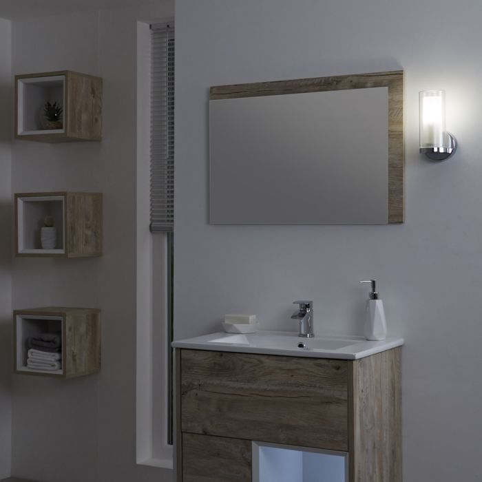 Almsee Gerades Badezimmer Wandlicht