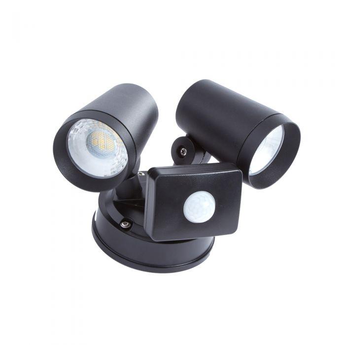 Biard Wels LED 16W IP65 Doppelte Wandleuchte- Schwarz