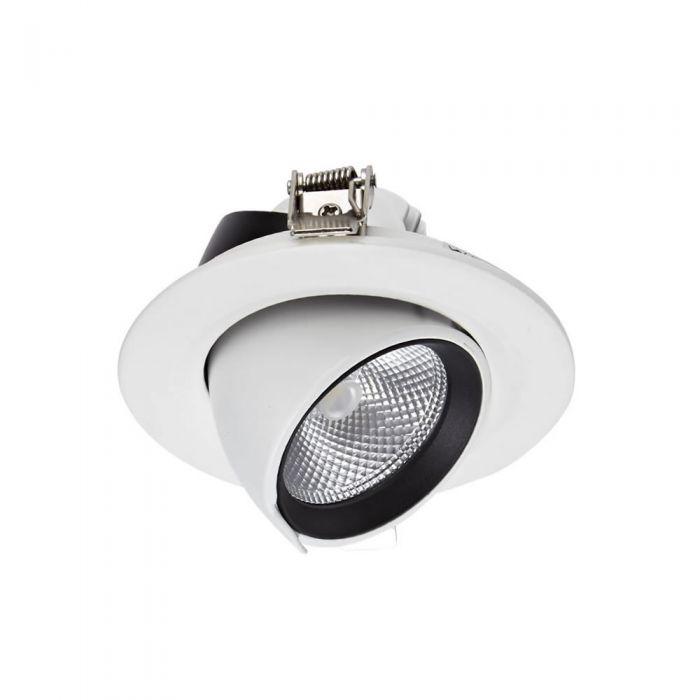 Biard 10W Versenkter LED Einbauspot - Direktional - mit weißer Fassung