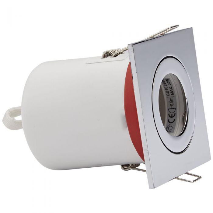 Biard Einbauspot mit verschiedenen Blenden, Brandschutzklassifiziert und IP20 getestet für GU10 Birnen - Eckig Kippbar Ø72mm