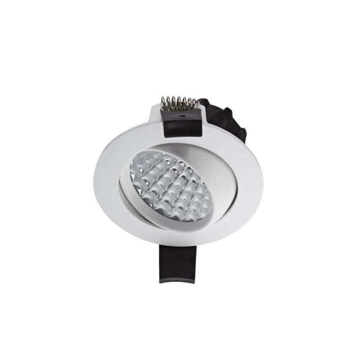 Biard 7W Versenkte LED Deckenleuchte mit Weißer Fassung - Dimmbar - Kippbar