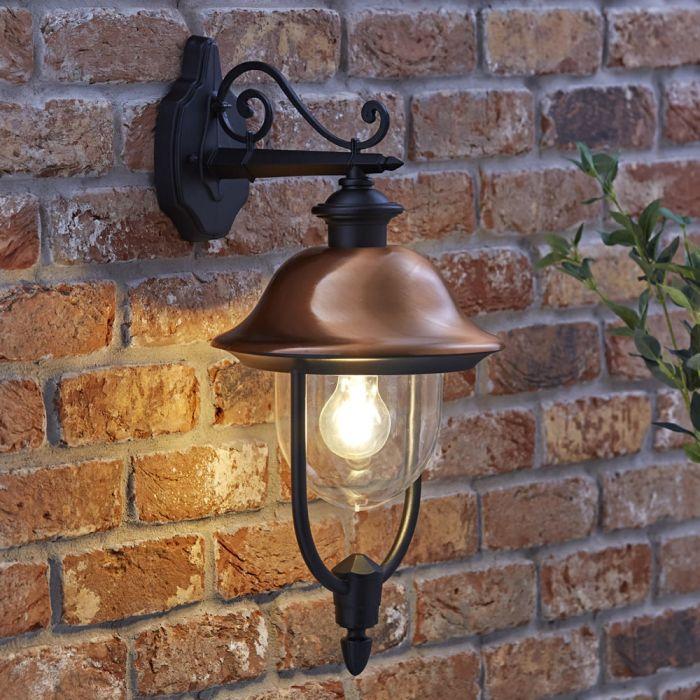 Biard Hängende Wandleuchte Verona - Kupferhelm - mit LED