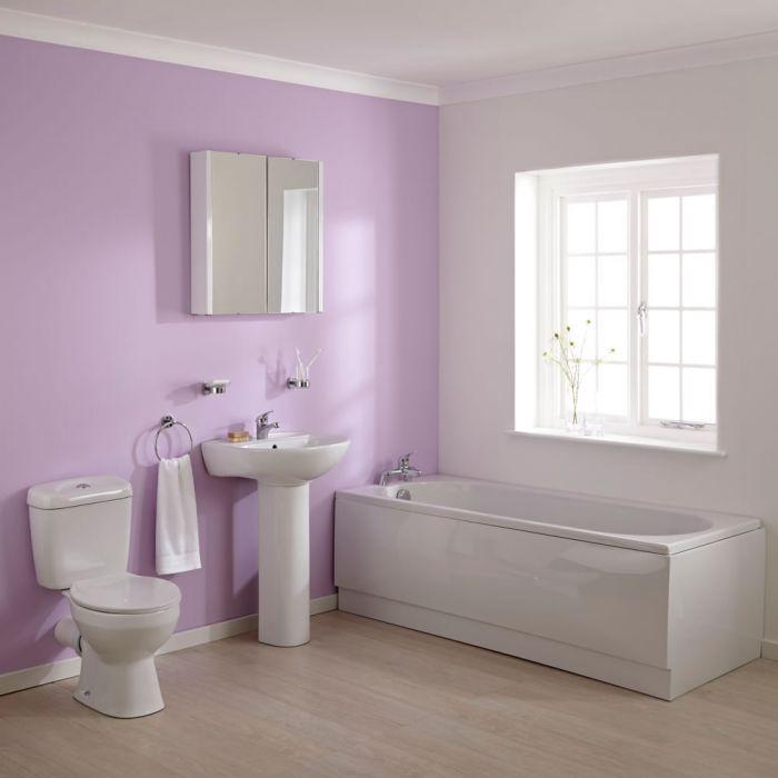 WC mit Spülkasten, Waschbecken und Einbaubadewanne im Set - Melbourne
