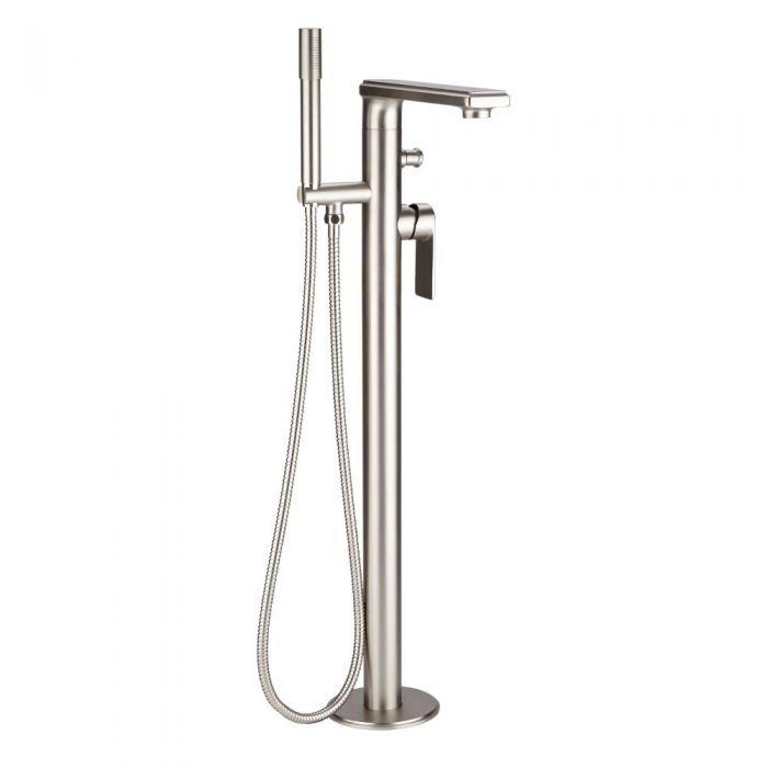 Hudson Reed Aldwick - Moderne freistehende Mischbatterie für Dusche und Bad - Gebürstetes Nickel