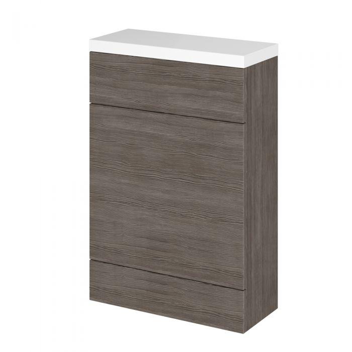 500mm x 235mm WC Einheit - Grau-Braun Avola