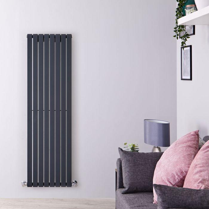 Design Heizkörper Vertikal Einlagig Anthrazit 1600mm x 472mm 1149W - Sloane