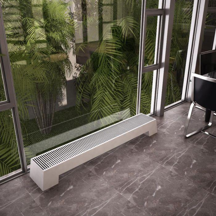 Design Konvektor Horizontal Weiß 200mm x 1400mm 1146W - Adva