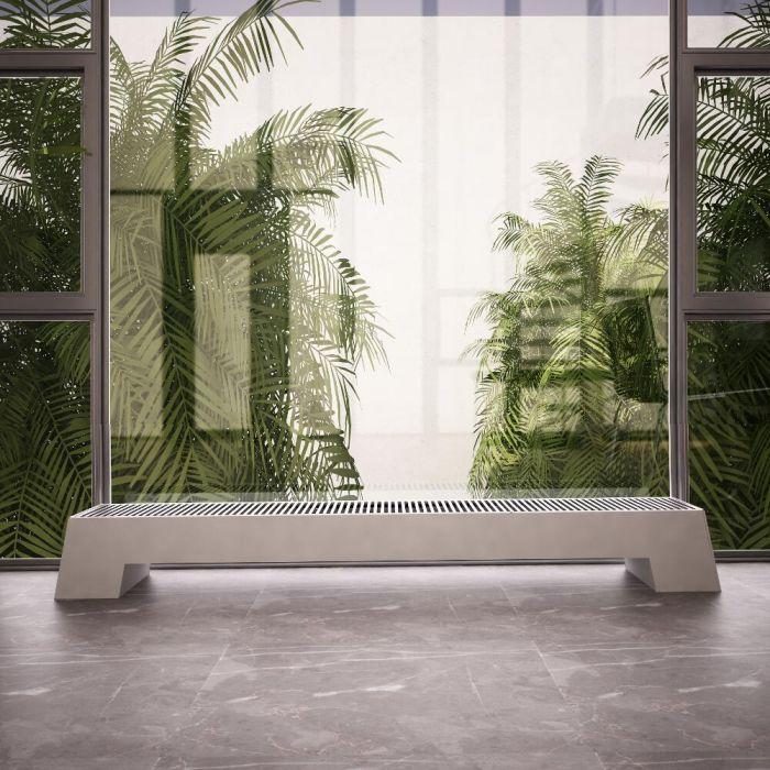 Design Konvektor Horizontal Weiß 200mm x 1800mm 1563W - Adva