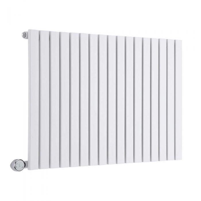 Design Heizkörper Elektrisch Horizontal Einlagig Weiß 635mm x 1000mm inkl. 1x 1200W Heizelemente - Sloane