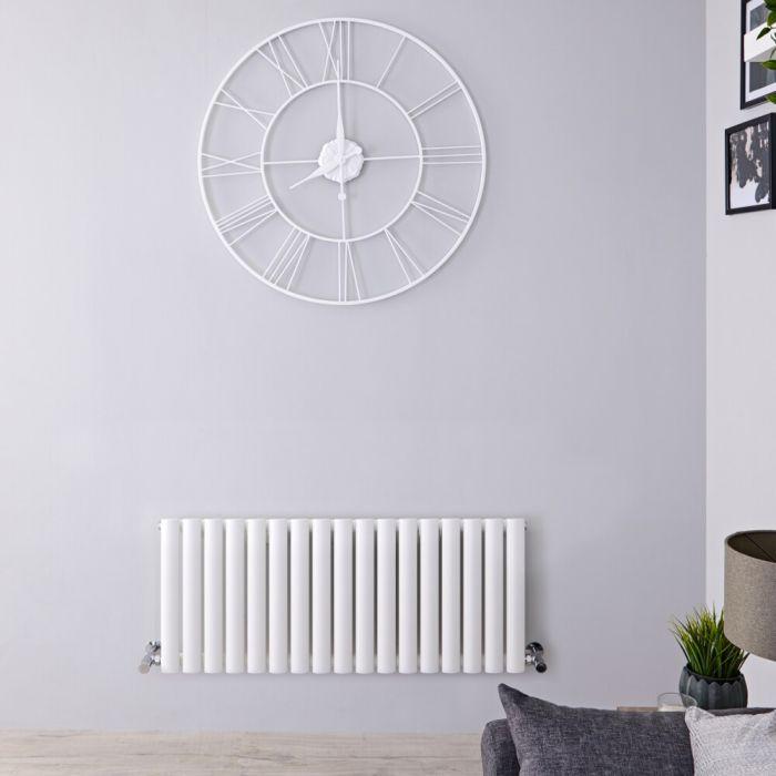 Design Heizkörper Horizontal Einlagig Weiß 400mm x 1000mm 770W - Revive