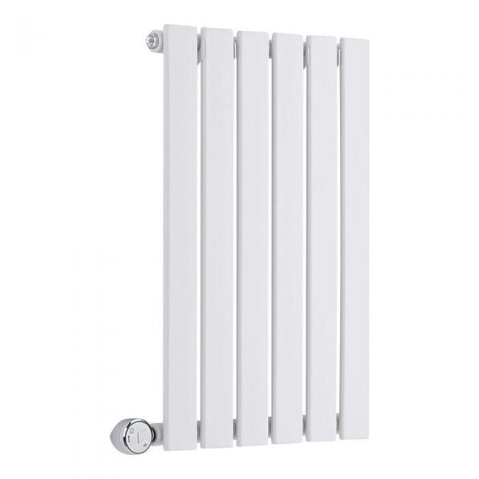 Design Heizkörper Elektrisch Horizontal Einlagig Weiß 635mm x 420mm inkl. ein 400W Heizelement - Delta
