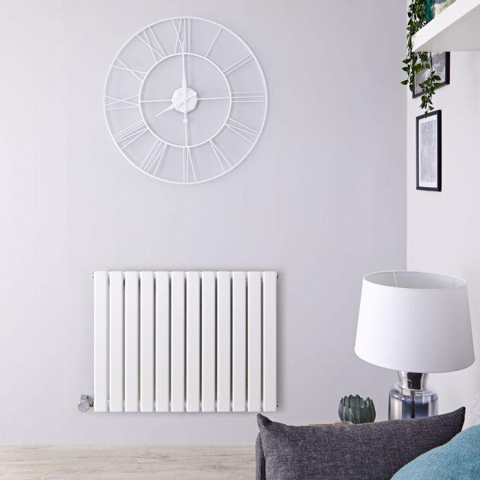 Design Heizkörper Elektrisch Horizontal Einlagig Weiß 635mm x 840mm inkl. ein 800W Heizelement - Delta