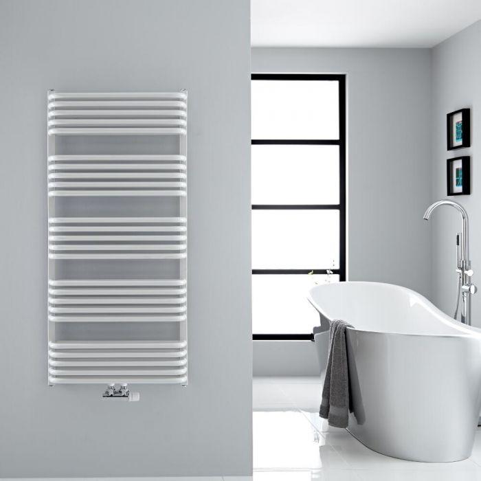 Handtuchheizkörper Vertikal Mittelanschluss Weiß 1269mm x 600mm 1338W - Arch