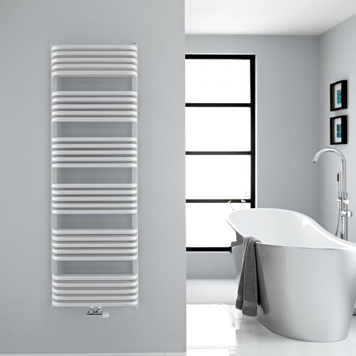 Handtuchheizkörper Vertikal Mittelanschluss Weiß 1533mm x 500mm 1524W - Arch