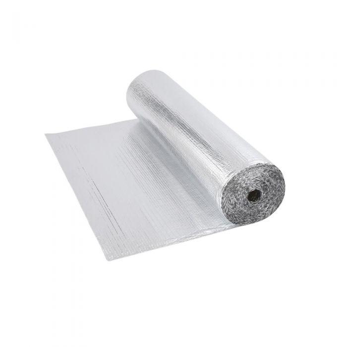Gepolsterte Isolierfolie aus Aluminium Beidseitig 5m x 1.2m Rolle 6m2