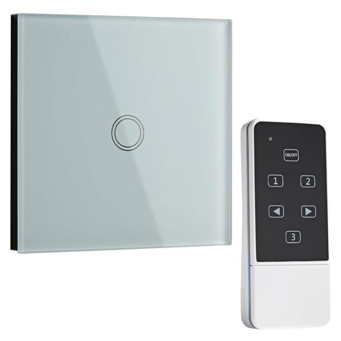 Biard Runder Design Lichtschalter mit Fernbedienung, Weiß