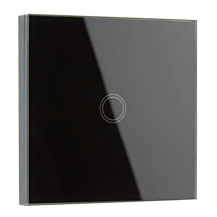 Biard Design Touch Lichtschalter, Schwarz, 1-Weg Wandschalter