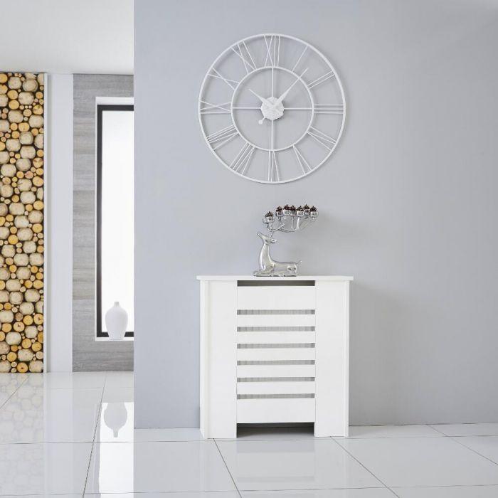 Heizkörperverkleidung Holz Horizontal Weiß 820mm x 780mm - Newham